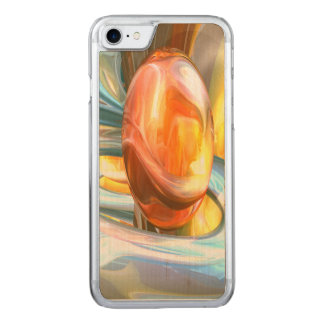 Mango and Cream Abstract Carved iPhone 8/7 Case