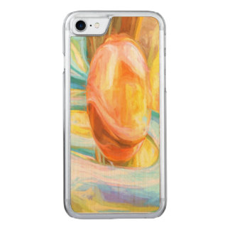 Mango and Cream Pastel Abstract Carved iPhone 8/7 Case