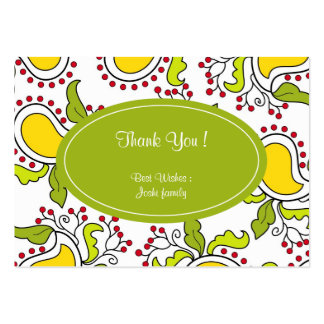 Mango and leaves paisley pattern business card