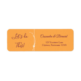 Mango and Purple Wedding   Return Address Label
