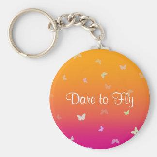 Mango Butterflies Dare to Fly - Keychain