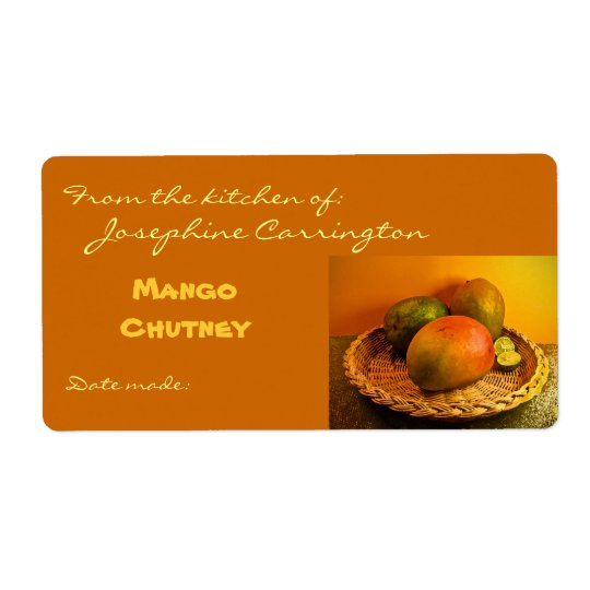 Mango Chutney Canning Labels