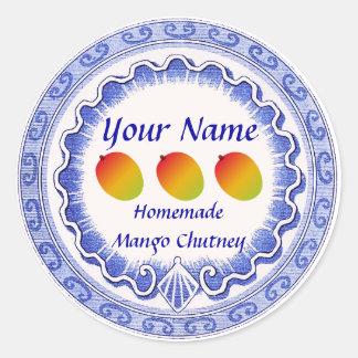 Mango Chutney Personalize Classic Round Sticker