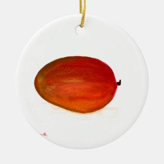 Mango fruit ceramic ornament