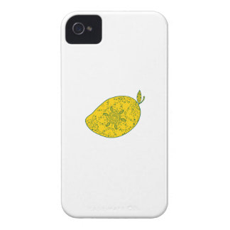 Mango Fruit Mandala Case-Mate iPhone 4 Case