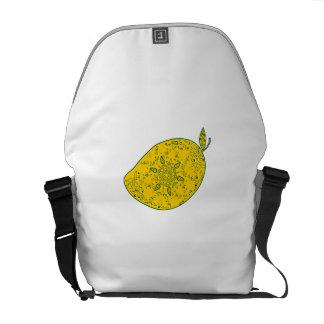 Mango Fruit Mandala Commuter Bag