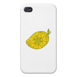 Mango Fruit Mandala iPhone 4 Covers