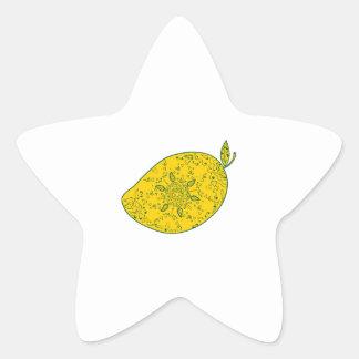Mango Fruit Mandala Star Sticker