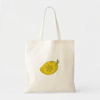 Mango Fruit Mandala Tote Bag