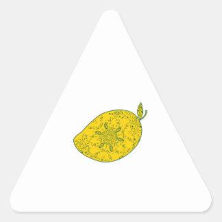 Mango Fruit Mandala Triangle Sticker