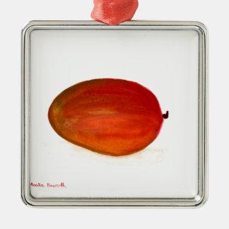 Mango fruit metal ornament