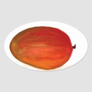 Mango fruit oval sticker