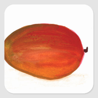 Mango fruit square sticker