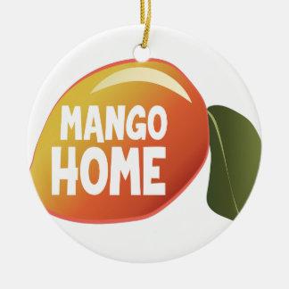Mango Home Round Ceramic Ornament