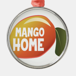 Mango Home Silver-Colored Round Ornament