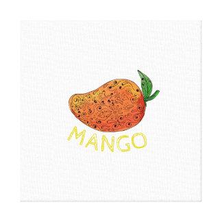 Mango Juicy Fruit Mandala Canvas Print
