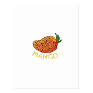 Mango Juicy Fruit Mandala Postcard