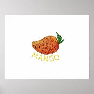 Mango Juicy Fruit Mandala Poster