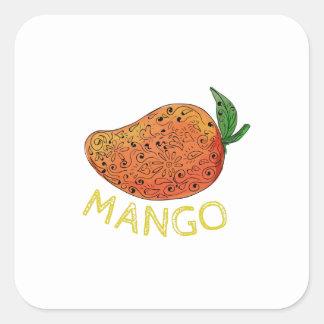 Mango Juicy Fruit Mandala Square Sticker
