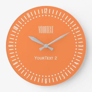 Mango Orange Color Accent Color to Personalize on Large Clock