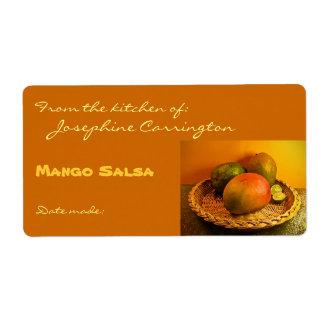 Mango Salsa Canning Labels