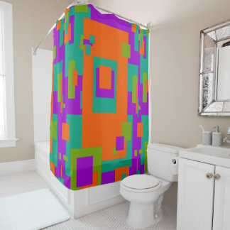 Mango Tango and Berry Design Shower Curtain