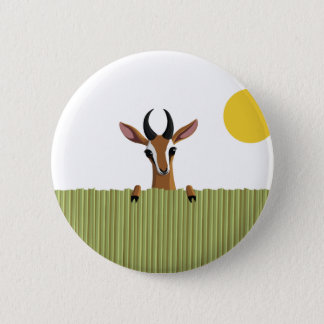 Mango the Gazelle Peek-a-boo 2 Inch Round Button