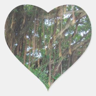 Mangrov Trees Heart Sticker