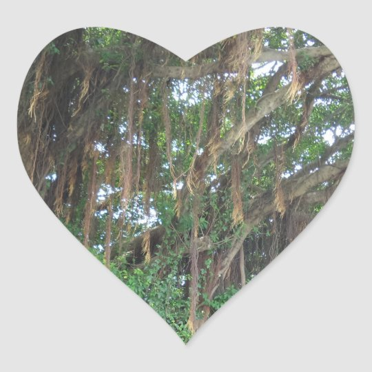 Mangrov Trees Heart Sticker