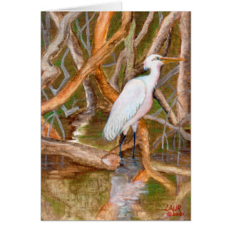 Mangrove Egret No. 2 Card