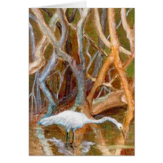 """""""Mangrove Egret No. 4"""" Card"""