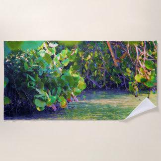 Mangrove Lagoon with Sea Grapes Beach Towel