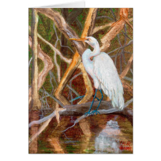 MangroveNo1Egret Card
