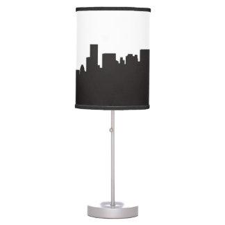 manhatan skyline city buldings silhouette table lamp