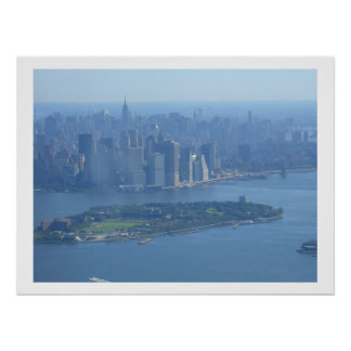 Manhattan and Governors Island Poster