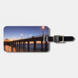 Manhattan Beach Pier at sunset, California Luggage Tag