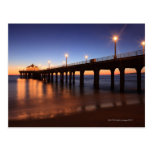 Manhattan Beach Pier at sunset, California Postcard