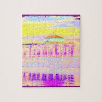 Manhattan Beach Pier California in Pastels Jigsaw Puzzle