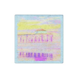 Manhattan Beach Pier California in Pastels Stone Magnets