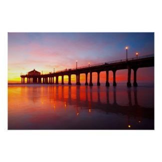 Manhattan Beach Pier Poster