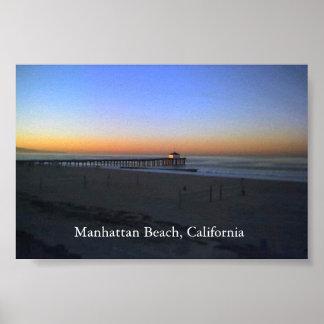 Manhattan Beach Sunrise Poster