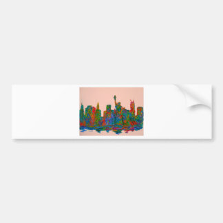 Manhattan Beauty Bumper Sticker