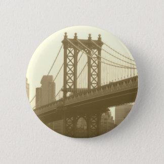 Manhattan Bridge 2 Inch Round Button