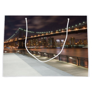 Manhattan Bridge and NYC Skyline Large Gift Bag