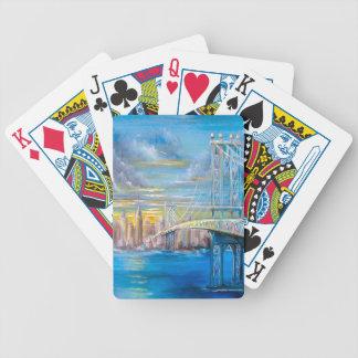 Manhattan Bridge Bicycle Playing Cards