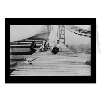 Manhattan Bridge Footpath 1910 Card