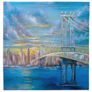 Manhattan Bridge Napkin