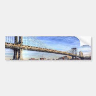 Manhattan Bridge New York Bumper Sticker