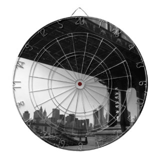 Manhattan Bridge & NYC Skyline - Dartboard