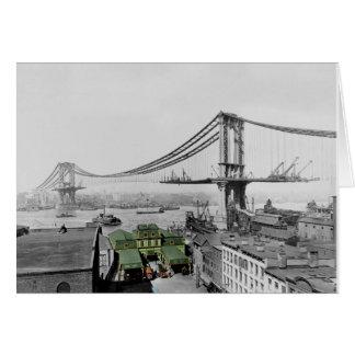 Manhattan Bridge Vintage Photo Greeting Card